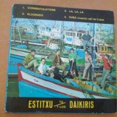 Discos de vinilo: ESTITXU Y LOS DAIKIRIS - CONGRATULATIONS + 3 EP 1968. Lote 177055209