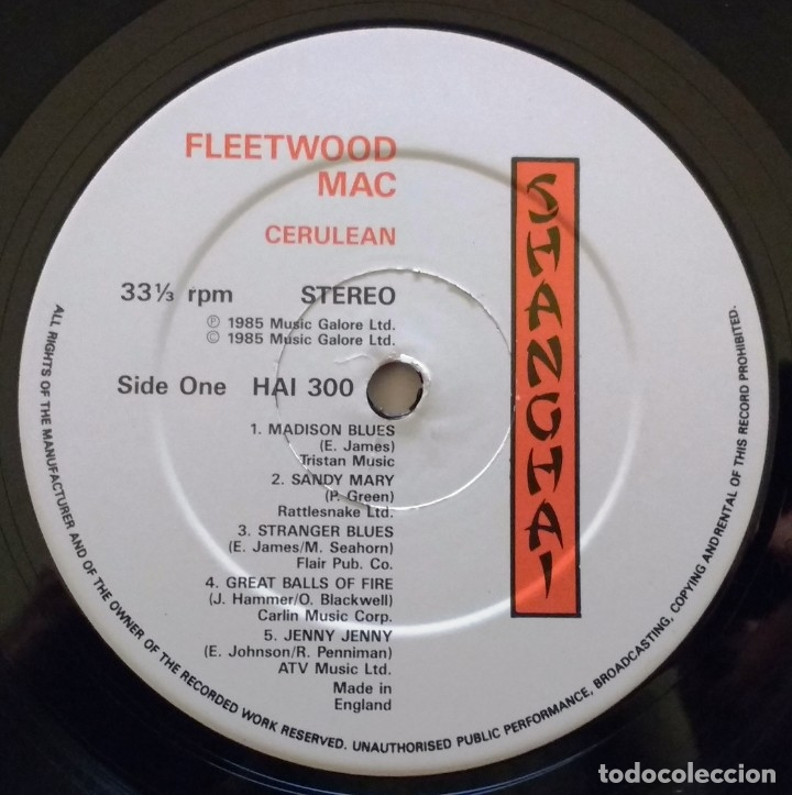 Discos de vinilo: FLEETWOOD MAC-CERULEAN UK 60's BRITISH BLUES ORIGINAL DOBLE LP - Foto 4 - 177064528