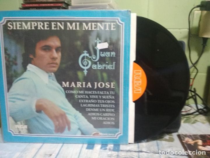 JUAN GABRIEL SIEMPRE EN MI MENTE MARIA JOSE LP MEXICO 1978 PEPETO (Música - Discos - LP Vinilo - Grupos y Solistas de latinoamérica)