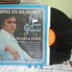 Discos de vinilo: JUAN GABRIEL SIEMPRE EN MI MENTE MARIA JOSE LP MEXICO 1978. Lote 177068463