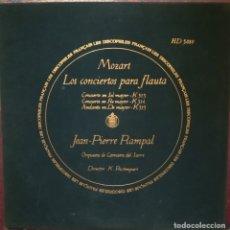 Discos de vinilo: MOZART. 3 CONCIERTOS PARA FLAUTA Y ORQUESTA. JEAN PIERRE RAMPAL. Lote 177069643