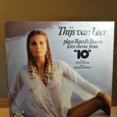 Discos de vinilo: THIJS VAN LEER : PLAYS RAVEL'S BOLERO LOVE THEME FROM -10- VINYL 12 MAXI SINGLE 1980 CBS NETHERLANDS. Lote 177081017