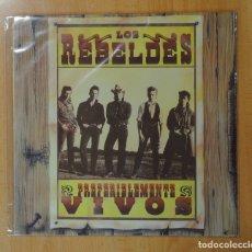 Discos de vinilo: LOS REBELDES - PREFERIBLEMENTE VIVOS - LP. Lote 177092112