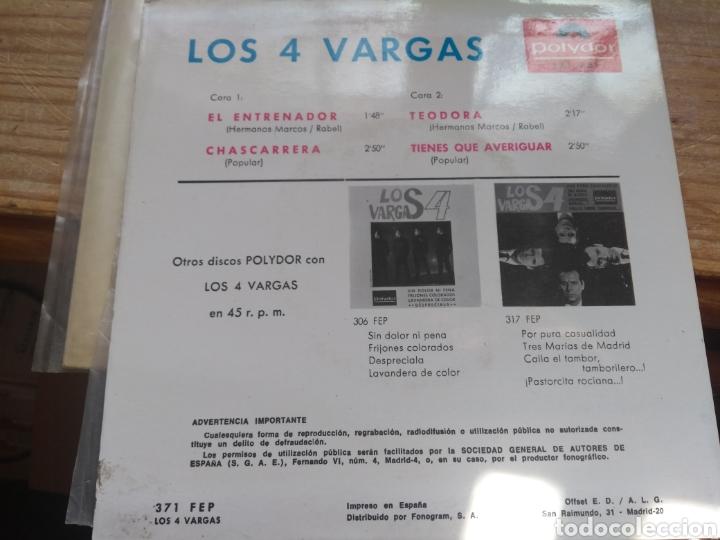 Discos de vinilo: Los 4 vargas excelente estado - Foto 2 - 177113330