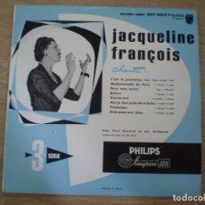 Discos de vinilo: EP 10 PULGADAS. JACQUELINE FRANCOIS. AÑOS 60. MUY BUENA CONSERVACION. Lote 177113348