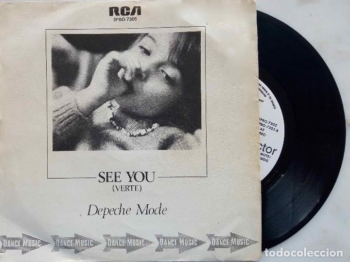 DEPECHE MODE. SEE YOU. 1982. SINGLE PROMOCIONAL LABEL BLANCO, PROMO (Música - Discos - Singles Vinilo - Techno, Trance y House)