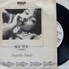 Discos de vinilo: DEPECHE MODE. SEE YOU. 1982. SINGLE PROMOCIONAL LABEL BLANCO.. Lote 177114665