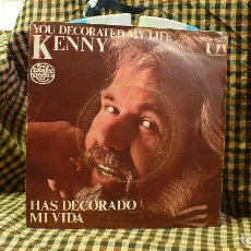 Discos de vinilo: KENNY ROGERS - HAS DECORADO MI VIDA / ONE MAN'S WOMAN, UNITED ARTISTS 1979.. Lote 177118494