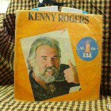 Discos de vinilo: KENNY ROGERS - LADY / SWEET MUSIC MAN, PROMOCIONAL, LIBERTY 1980.. Lote 177119387