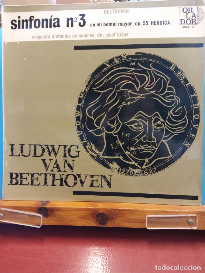 LUDWIG VAN BEETHOVEN. SINFONIA Nº 3 EN MI BEMOL MAYOR OP 55 HEROICA (Música - Discos - LP Vinilo - Clásica, Ópera, Zarzuela y Marchas)
