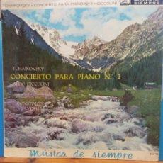 Discos de vinilo: TSCHAIKOWSKY CONCIERTO PARA PIANO Nº 1 EN SI BEMOL MENOR, OP 23. ALDO CICCOLINI. Lote 177128084