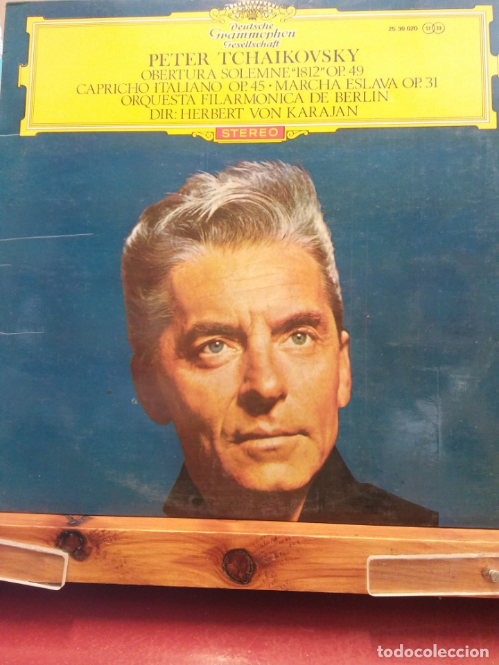 PETER TSCHAIKOWSKY OBERTURA SOLEMNE 1812 OP.49,CAPRICHO ITALIANO OP45 ORQUESTA FILARMONICA DE BERLIN (Música - Discos - LP Vinilo - Clásica, Ópera, Zarzuela y Marchas)