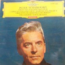 Discos de vinilo: PETER TSCHAIKOWSKY OBERTURA SOLEMNE 1812 OP.49,CAPRICHO ITALIANO OP45 ORQUESTA FILARMONICA DE BERLIN. Lote 177129038