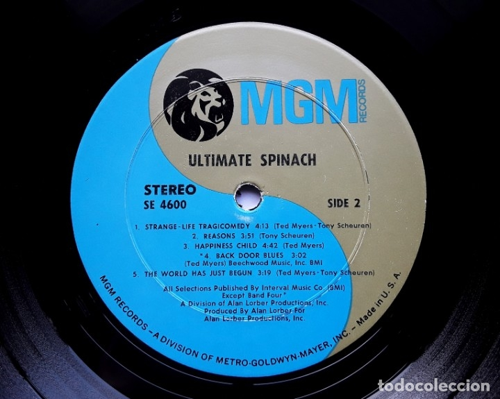 Discos de vinilo: ULTIMATE SPINACH 1969 USA PSYCHEDELIC ROCK ORIGINAL LP - Foto 4 - 177132047