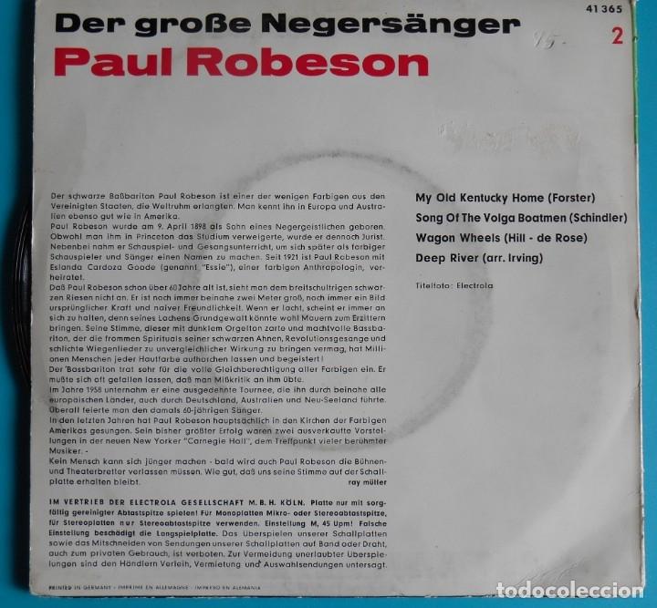 Discos de vinilo: Paul Robeson La voz de su amo - Foto 2 - 177135598