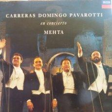 Discos de vinilo: CARRERAS DOMINGO PAVAROTTI EN CONCIERTO. ZUBIN MEHTA . Lote 177136320