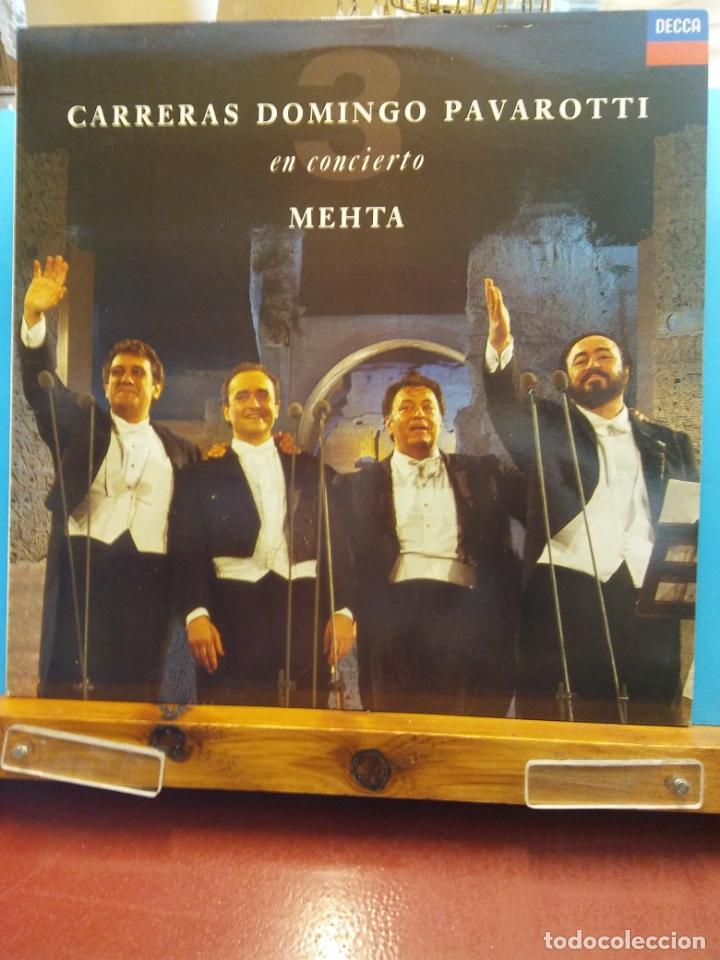 CARRERAS DOMINGO PAVAROTTI EN CONCIERTO. ZUBIN MEHTA (Música - Discos - LP Vinilo - Clásica, Ópera, Zarzuela y Marchas)