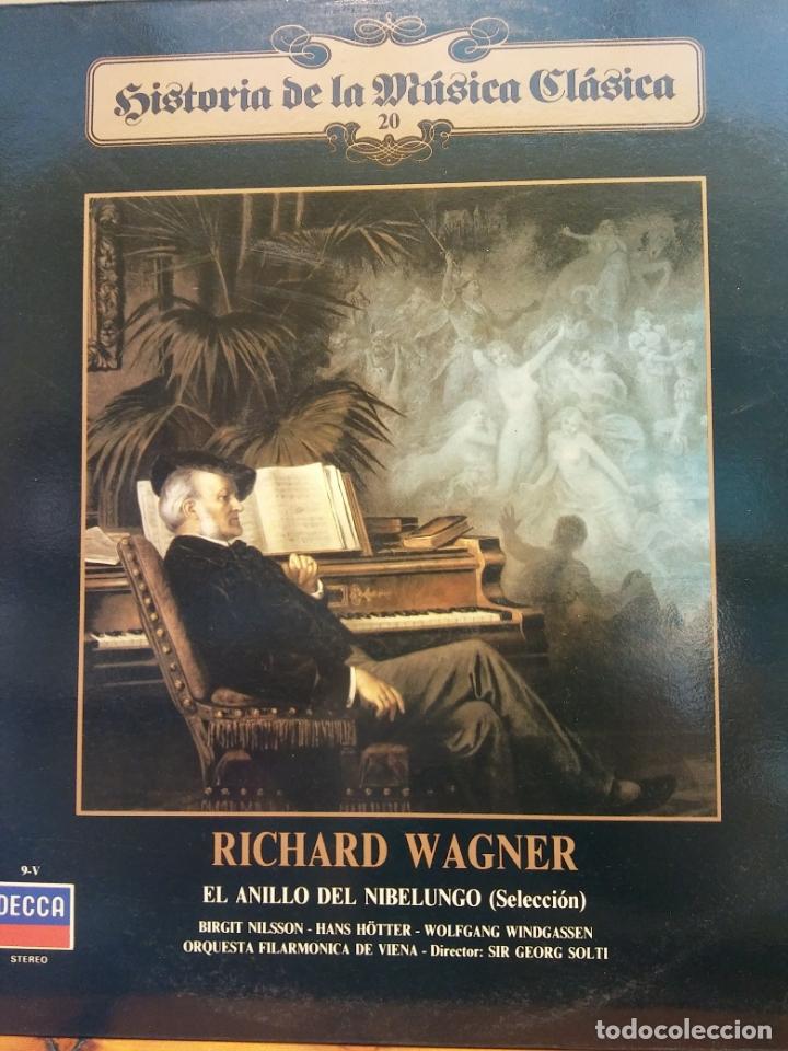 HISTORIA DE LA MÚSICA CLÁSICA Nº 20. RICHARD WAGNER. ORQUESTA FILARMÓNICA DE VIENA (Música - Discos - LP Vinilo - Clásica, Ópera, Zarzuela y Marchas)