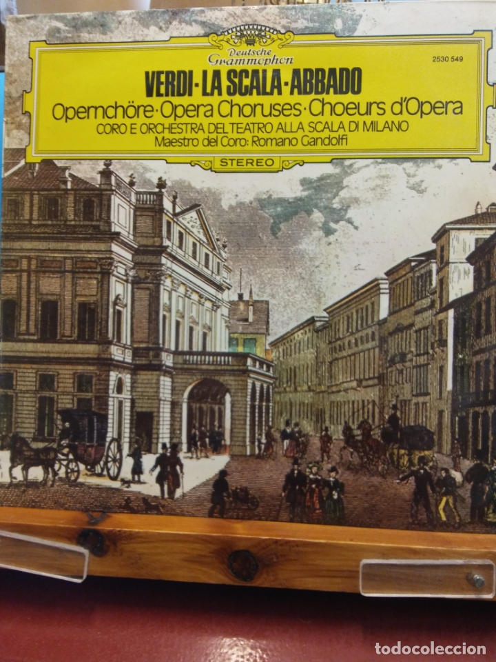 VERDI - LA SCALA - ABBADO. OPERA CHORUSES. STEREO. (Música - Discos - LP Vinilo - Clásica, Ópera, Zarzuela y Marchas)
