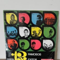 Discos de vinilo: 12 FAMOSOS PARA 12 EXITOS - LP BELTER 1966 - MINA THE BRISKS CONCHITA VELASCO JEZABEL & THE FINDERS . Lote 177179968