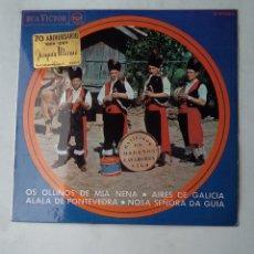 Dischi in vinile: GAITEROS OS MORENOS DE LAVADORES: OS OLLIÑOS DE MIA NENA / AIRES DE GALICIA. TDKDS17. Lote 177180782