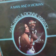 Discos de vinilo: A MAN AND A WOMAN. ISAAC HAYES & DIONNE WARWICK. Lote 177182085
