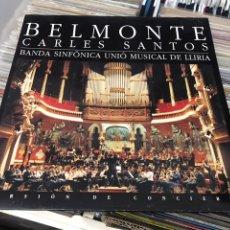 Discos de vinilo: CARLES SANTOS BELMONTE BANDA SINFONICA UNIO MUSICAL DE LLIRIA LP DISCO DE VINILO VIRGIN. Lote 177185437