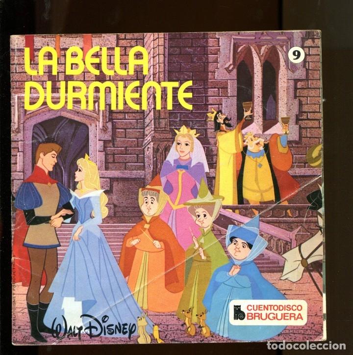 WALT DISNEY. CUENTO DISCO BRUGUERA Nº9. LA BELLA DURMIENTE. 1968 (Música - Discos - Singles Vinilo - Música Infantil)