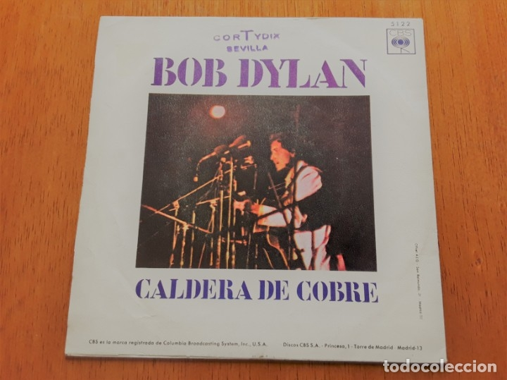 Discos de vinilo: BOB DYLAN - WIGWAM 1970 SINGLE ORIGINAL ESPAÑOL - Foto 2 - 177202182