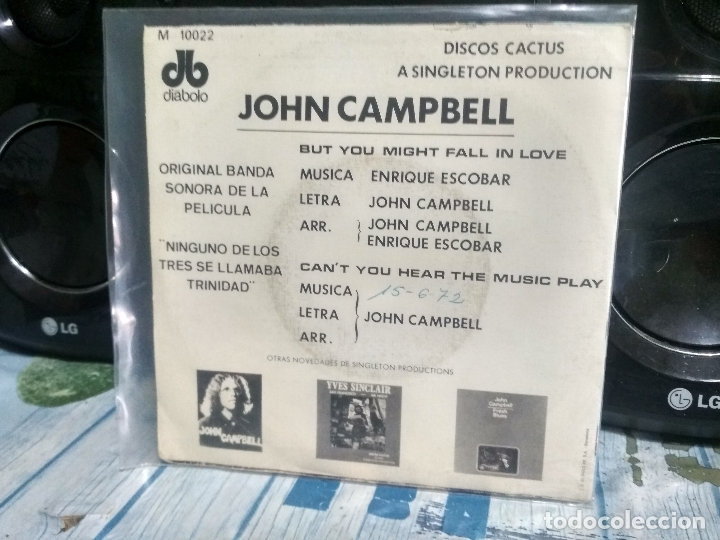 Discos de vinilo: JOHN CAMPBELL BUT YOU MIGHT FALL IN LOVE SINGLE SPAIN 1972 PDELUXE - Foto 2 - 177208268