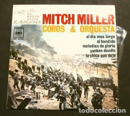 EL DIA MAS LARGO (EP. 1962) BSO - MITCH MILLER Y SU ORQUESTA - JOHN WAYNE - FILM BELICO (Música - Discos de Vinilo - EPs - Bandas Sonoras y Actores)