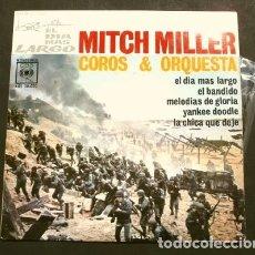 Discos de vinilo: EL DIA MAS LARGO (EP. 1962) BSO - MITCH MILLER Y SU ORQUESTA - JOHN WAYNE - FILM BELICO. Lote 177208482