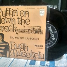 Discos de vinilo: HUGH MASEKELA PUFFIN ON DOWN THE TRACK SINGLE SPAIN 1968 PDELUXE. Lote 177210175