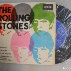Discos de vinilo: DISCO SINGLE THE ROLLING STONES SATISFACTION. DECCA 1965. Lote 177218632
