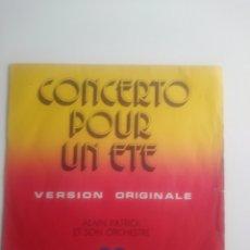 Discos de vinilo: ALAIN PATRICK & SON ORCHESTRE : CONCERTO POUR UN ETE.. Lote 177256159