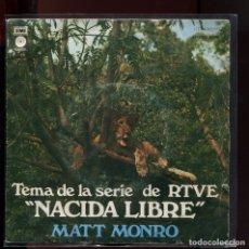 Discos de vinilo: MATT MONRO. NACIDA LIBRE SERIE RTVE EMI 1976. Lote 177256678