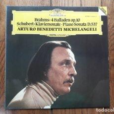 Discos de vinilo: ARTURO BENEDETTI MICHELANGELI - BRAHMS , SCHUBERT. Lote 177260594