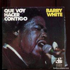 Discos de vinilo: BARRY WHITE. QUE VOY A HACER CONTIGO 1975. PERFECTO ESTADO COMO NUEVO. Lote 177261843