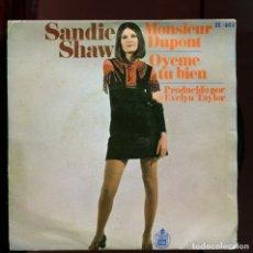 Dischi in vinile: SANDIE SHAW. MONSIEUR DUPONT. OYEME TU BIEN.. Lote 177265553