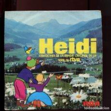 Discos de vinilo: HEIDI CANCIONES DE LA BANDA ORIGINAL. RCA 1975. BUENO. Lote 177266478