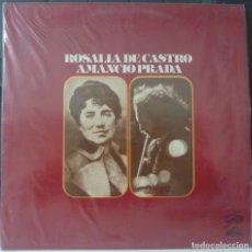 Disques de vinyle: AMANCIO PRADA//ROSALIA DE CASTRO//1975//(VG VG). LP. Lote 177266517