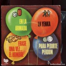 Discos de vinilo: LOS CHIQUITINES ERASE UNA VEZ EL HOMBRE, LA YENKA, EN LA ARMADA. BELTER 1979. EP NUEVO. Lote 177266913