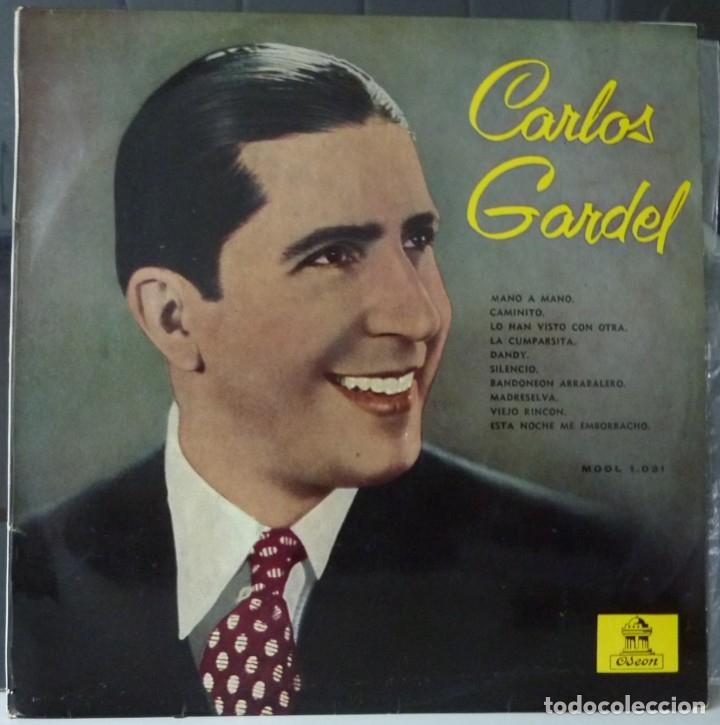 CARLOS GARDEL// MANO A MANO Y OTRAS//1958//(VG VG). 33 RPM (Música - Discos de Vinilo - EPs - Cantautores Extranjeros)