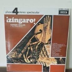 Discos de vinilo: WERNER MÜLLER Y SU ORQUESTA, ¡ZÍNGARO!, DECCA, 1978, EDICIÓN ESPAÑOLA.. Lote 177273825