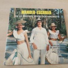 Discos de vinilo: DISCO VINILO MAXI SINGLE MANOLO ESCOBAR ENTRE DOS AMORES. Lote 177283534