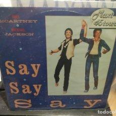 Discos de vinilo: MAXI LP PAUL MCCARTNEY MICHAEL JACKSON SAY SAY SAY BUEN SONIDO. Lote 177295915