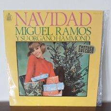 Discos de vinilo: NAVIDAD, MIGUEL RAMOS Y SU ORGANO HAMMOND - LP HISPAVOX. Lote 177298000