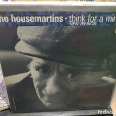 Discos de vinilo: MAXI LP THE HOUSEMARTINSTHINK FOR A MINUTE Y BUEN SONIDO. Lote 177300527