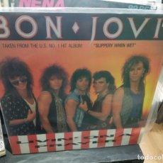 Discos de vinilo: MAXI LP BON JOVI LIVIN ON A PLAYER BUEN SONIDO. Lote 177300722