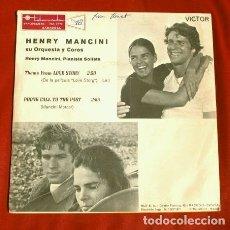 Discos de vinilo: LOVE STORY (SINGLE 1971) BSO - HENRY MANCINI INTERPRETA TEMA DEL FILM. Lote 177304575